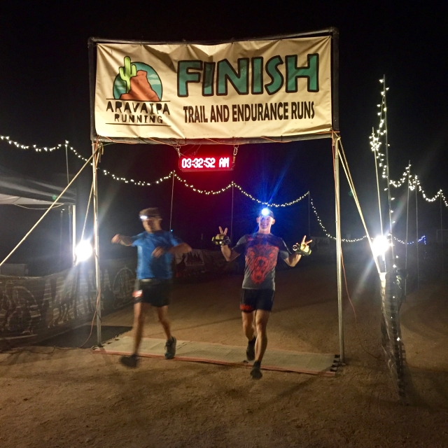 Jon/Thomas crossing 54k Finish line