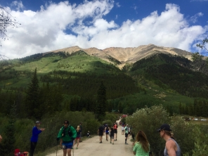 Inbound runners coming down from Hope Pass into Winfield aid station. pc: Meghan Slavin